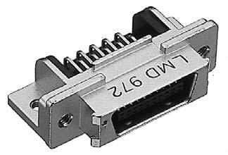 PCR-E50LMD+/基板用ライトアングル・ディップタイプ雄コネクタ【ROHS】