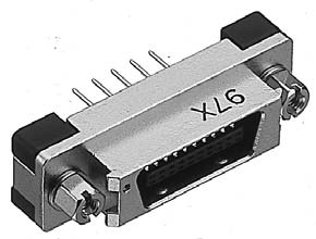 PCR-E28MD-SL+/基板用ストレートディップタイプ雄コネクタ(スクリューロックねじ付き)【ROHS】