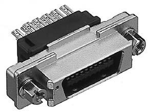 PCR-E28PMRS-SL+/ケーブル側中継用パネル取り付け用雄コネクタ(スクリューロックねじ付き)【ROHS】