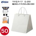 キューブ(底面が正方形に紙袋) Q-250 引き出物の紙袋ように 1セット50枚 サイズ280x250x280