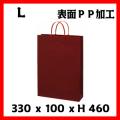 6セット以上激安単価 高級手提げ袋 グロスマロン L サイズ 330×100×460 1セット50枚〜