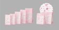 角底袋 ローゼ(片ツヤ晒) 300号 180x105x230 1ケース2000枚