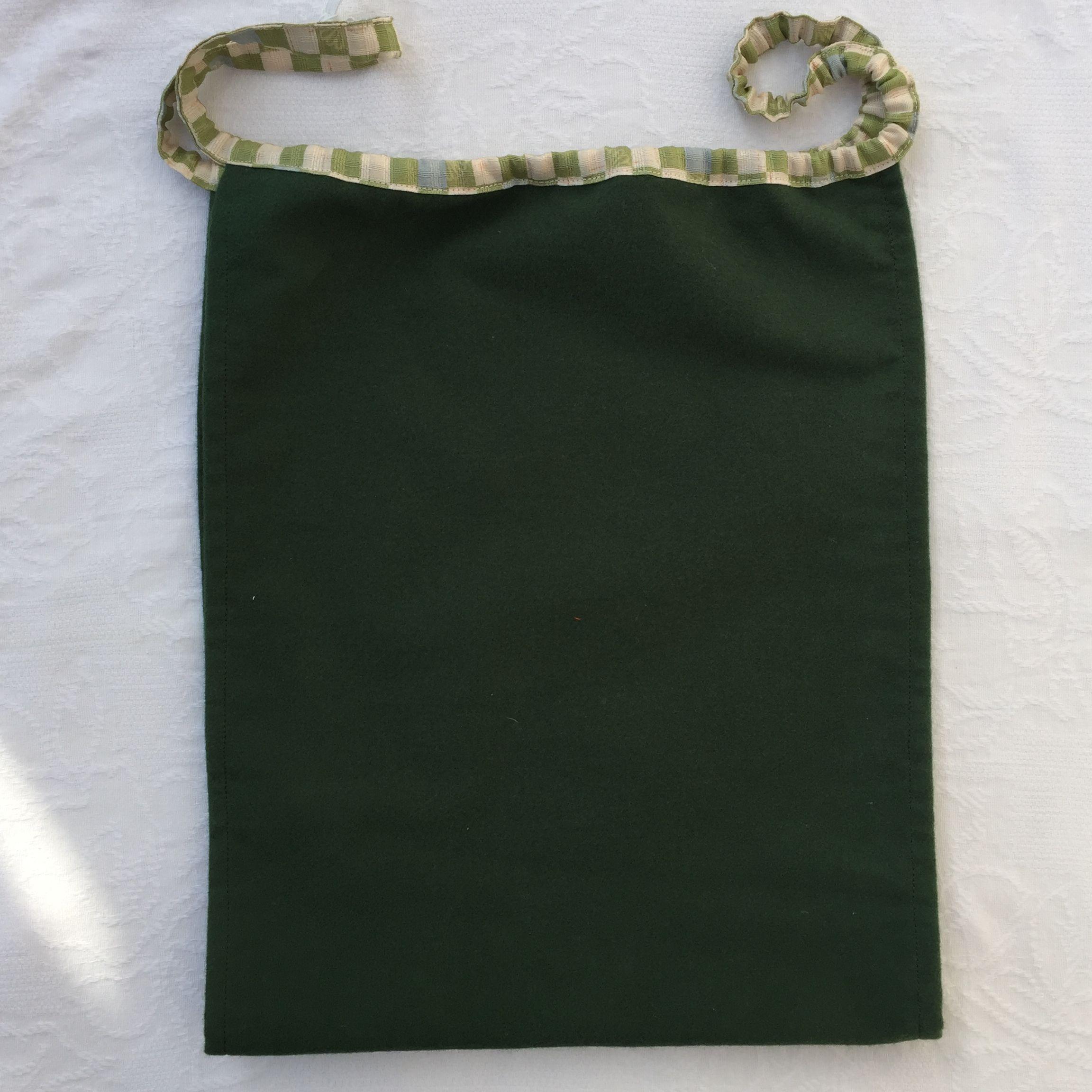 【和癒ぱんつ(ふんどしパンツ)】あったかネル(深緑)×市松に菊文様(黄緑)『メール便可』