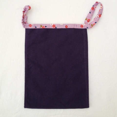 【和癒ぱんつ(ふんどしパンツ)】あったかネル(紫)×ほっこり椿【緩サイズ】『メール便可』