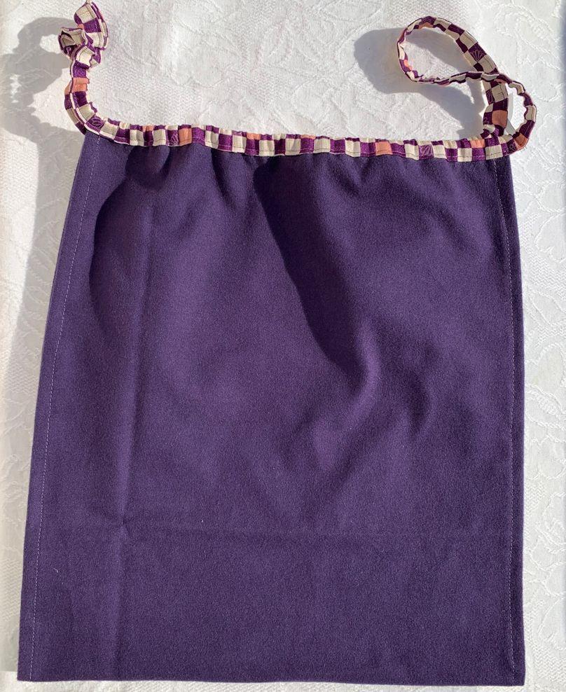 【和癒ぱんつ(ふんどしパンツ)】あったかネル(紫)×市松に菊文様(紫)【緩サイズ】『メール便可』