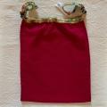 【和癒ぱんつ(ふんどしパンツ)】肌癒ダブルガーゼ(赤紫)×金彩花文様(グリーン)『メール便可』