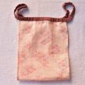 【和癒ぱんつ(ふんどしパンツ)】ダブルガーゼ(麻の葉・ピンク)×疋田絞(赤)『メール便可』