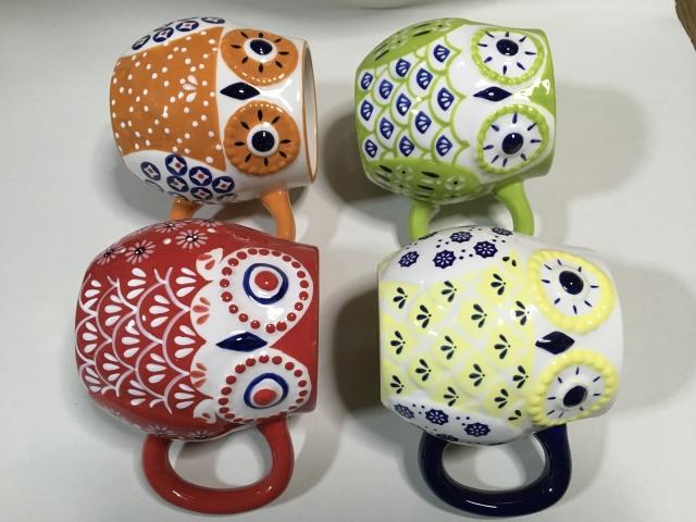 雑貨 ふくろうマグカップ  陶器製