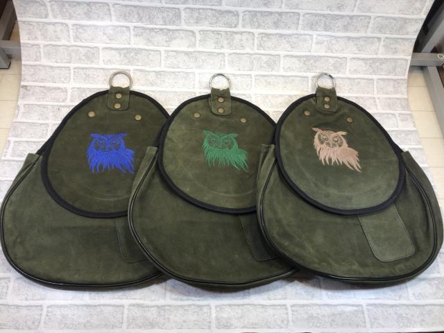 HAWKING BAG ホーキングバッグ レザー ミミズク刺繍Aタイプ