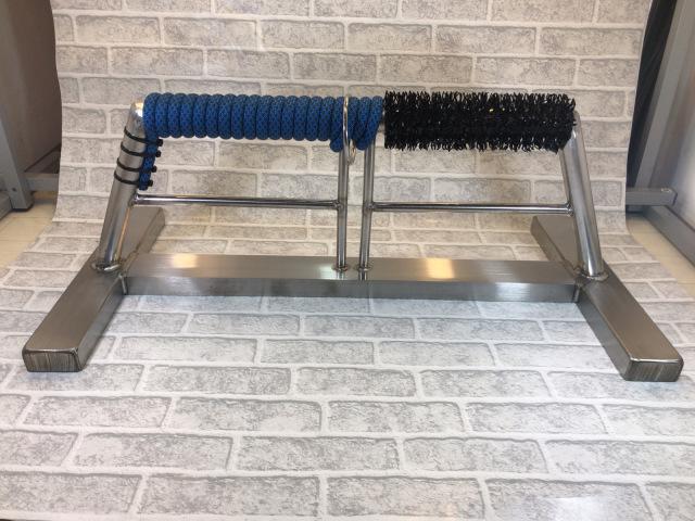 ステンレス製 OWLパーチ 半ロープ、半人工芝仕様 Mサイズ