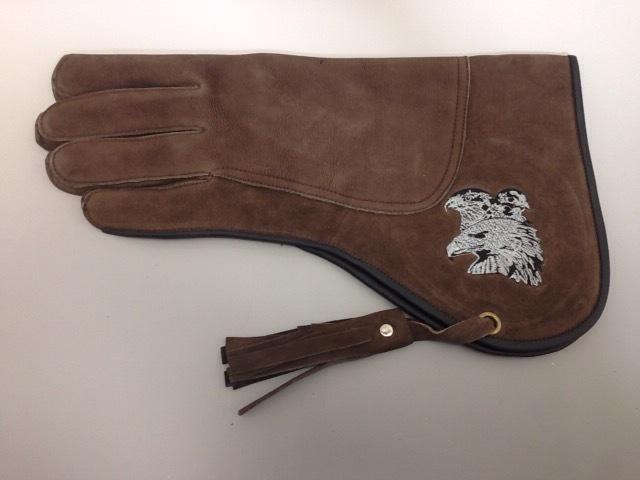 (飼育用品・猛禽グローブ) ファルコングローブ  Lサイズ タカ刺繍