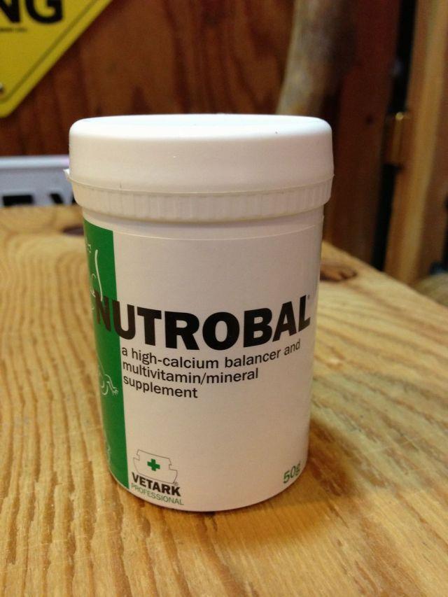 (飼育用品・サプリメント)NUTROBAL(ニュートロバル) 50g