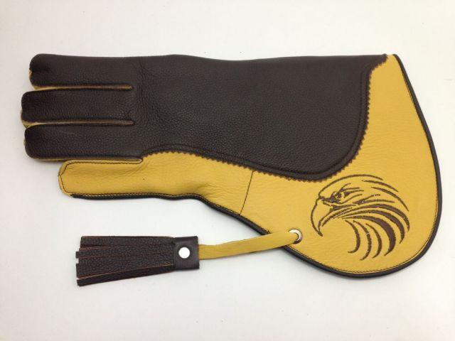 (飼育用品・猛禽グローブ)ファルコングローブ タカ刺繍 Sサイズ