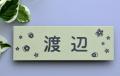 梨地ステンレス表札「ナチュラルグリーン」HCS-07 ご希望サイズ変更可 マンションユニットにジャストフィット 二世帯 戸建 ポスト 機能門柱にも対応可 書体・レイアウト変更可