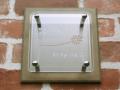 クリアガラス&ステンレス&タイル表札 スーパークリア&シルバー色 ガラス&ステンレス&タイルを組み合わせた高級表札