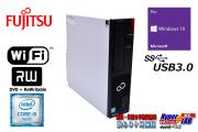 Wi-Fi 中古パソコン 富士通 ESPRIMO D956/P Core i5 6500 新品SSD256G メモリ8G Windows10 マルチ USB3.0