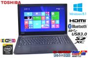 中古ノートパソコン Windows8.1 東芝 dynabook Satellite B35/R 第5世代 Celeron 3205U (1.50GHz) メモリ4G WiFi(11ac)  Bluetooth USB3.0 リカバリ付