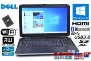 Windows10 64bit 新品SSD 中古ノートパソコン DELL Latitude E5530 Core i5 3340M (2.70GHz) メモリ4G マルチ WiFi USB3.0 HDMI SDXC