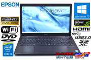 GeForceGTX フルHD 中古ノートパソコン EPSON Endeavor NJ5970E Core i5 4210M メモリ8G HDD1000GB DVD Wi-Fi Webカメラ Windows10