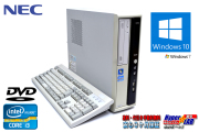 中古パソコン NEC Mate MJ33L/L-D Core i3 2120 (3.30GHz) Windows10 メモリ2G DVD Windows7リカバリ付