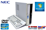 Windows7 32bit 中古パソコン NEC Mate MJ33L/L-D Core i3 2120 (3.30GHz) メモリ2G DVD Windows7リカバリ付
