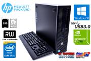 中古パソコン GeForce搭載 HP EliteDesk 800 G1 SFF Core i7 4790 メモリ16G 新品SSD256G HDD1000G Windows10 USB3.0 マルチ