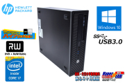 メモリ16G 中古パソコン HP ProDesk 600 G1 SFF Core i7 4770 新品SSD256G HDD1000G マルチ Windows10