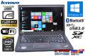 SSD フルHD ウルトラブック レノボ THINKPAD T450s Core i5 5300U (2.30GHz) メモリ8G WiFi Bluetooth Windows10リカバリ付