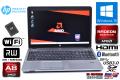 中古ノートパソコン HP ProBook 455 G1 AMD A8-4500M RadeonHD 新品SSD128G メモリ4G Wi-Fi マルチ Bluetooth Windows10
