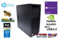 メモリ32GB Quadro K4200 HP Z440 WorkStation Xeon E5-1650 v3 新品SSD256G HDD2000G マルチ Windows10 中古ワークステーション