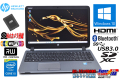 Webカメラ 中古ノートパソコン HP ProBook 450 G2 Core i5 5200U メモリ8G 新品SSD256G Wi-Fi(11ac) Bluetooth Windows10