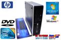 WinXPリカバリ付 Win7Pro64bit HP 6000 Pro SF Core2DUO E7500(2.93GHz) メモリ1GB 160GB DVD-ROM 新品キーボード付