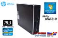 Windows7 64bit 中古パソコン HP Pro6300 Core i3 3220 DVDマルチ メモリ4G HDD250GB 省スペース