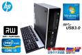 中古省スペースパソコン 2コア/4スレッド HP Pro6300 Core i3-3220(3.20GHz) メモリ4G HDD500GB DVDマルチ Windows7