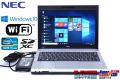 美品 アウトレット 中古ノートパソコン NEC VersaPro VK27M/B-G Core i5 3340M (2.70GHz) WiFi メモリ4G USB3.0 Windows10 訳あり