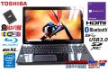 Blu-ray 中古ノートパソコン 東芝 dynabook T554/67KB Core i7 4700MQ メモリ8G 新品SSD256G Wi-Fi(ac) Bluetooth Windows10Pro