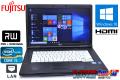 Windows10 64bit 中古ノートパソコン 富士通 LIFEBOOK A561/C Core i5 2520M(2.50GHz) メモリ4G マルチ 15.6型 無線なし