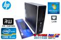 Windows7 64bit 中古パソコン HP 8200 Elite SF Core i5 2400(3.10GHz) メモリ4G HDD250GB DVDマルチ 新品キーボード