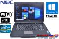 Windows10 中古ノートパソコン NEC VersaPro VK25T/L-E Corei5 3210M(2.5GHz) メモリ2G WiFi マルチ 15.6型ワイド