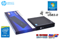 WiFi内蔵 小型PC 中古パソコン HP ProDesk 400 G1 DM Core i5 4590T (2.00GHz) Windows7 メモリ4G HDD500GB USB3.0 リカバリ付