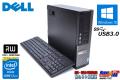 メモリ8GB 中古パソコン DELL OPTIPLEX 9020 SF 4コア8スレッド Core i7 4770 (3.40GHz) Windows10 HDD1TB マルチ