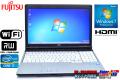 中古ノートパソコン 富士通 LIFEBOOK E741/D Core i7 2640M(2.80GHz) メモリ2G マルチ WiFi HDMI テンキー Windows7 64bit