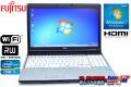 Windows7 64bit 富士通 LIFEBOOK E741/D Core i7 2640M(2.80GHz) メモリ2G マルチ WiFi HDMI テンキー 中古ノートパソコン