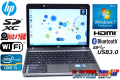 Windows7 中古ノートパソコン HP ProBook 4230s Core i5 2430M(2.40GHz) メモリ4GB WiFi Bluetooth カメラ USB3.0 HDMI