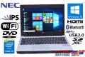 美品 IPS液晶 中古ノートパソコン NEC VersaPro VK27M/C-K Core i5 4310M (2.70GHz) WiFi メモリ4G Bluetooth 外付けDVD Windows10