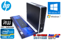 中古パソコン HP 8200 Elite US Core i7 2600s (2.80GHz) Windows10 メモリ4G HDD320GB DVDマルチ 小型PC Win7リカバリ