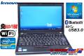 中古ノートパソコン レノボ THINKPAD X220 4290-KF4 Core i7 2640M(2.80GHz) メモリ4G WiFi Bluetooth カメラ USB3.0 Windows7 64bit