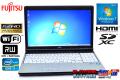 フルHD 15.6w 中古ノートパソコン 富士通 LIFEBOOK E741/D Core i7 2640M (2.80GHz) メモリ4G マルチ WiFi Windows7 64bit