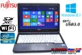 中古ノートパソコン 富士通 LIFEBOOK S762/G Core i5 3340M (2.70GHz) メモリ4G WiFi USB3.0 Windows8.1 64bit 13.3型モバイル
