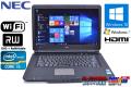 中古ノートパソコン NEC VersaPro VJ24T/L-D Corei5 2430M (2.4GHz) Windows10 メモリ2G マルチ WiFi 15.6型 Windows7リカバリ付